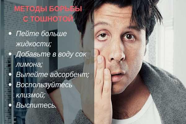 Что делать, если с похмелья тошнит | БезЗапоя.ру